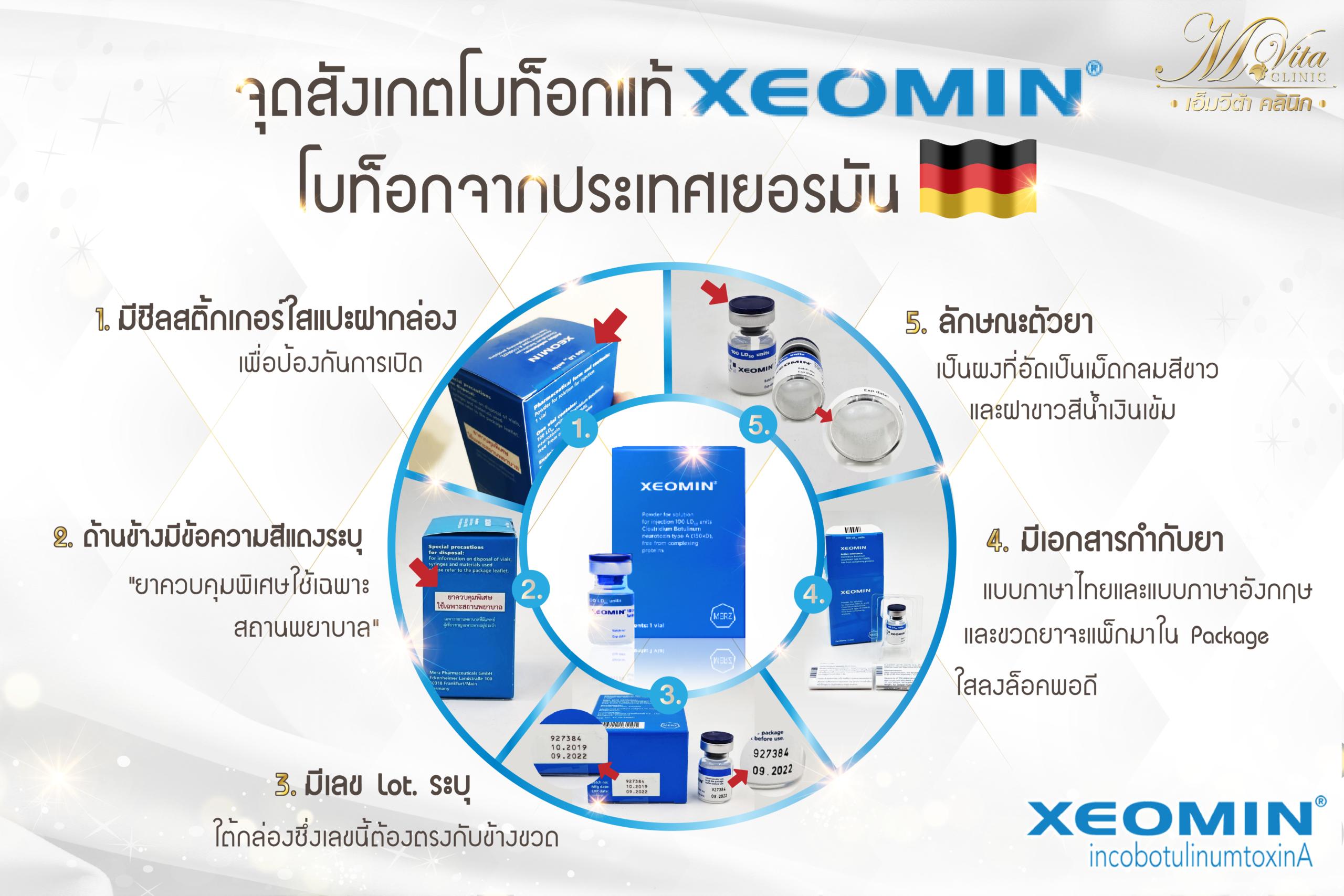 วิธีดู XEOMIN Botox แท้
